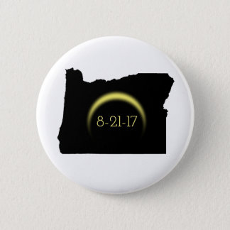Total Solar Eclipse Oregon Silhouette 2017 2 Inch Round Button