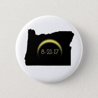 Total Solar Eclipse Oregon Silhouette 2017 2 Inch Round Button