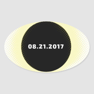 Total Solar Eclipse Oval Sticker