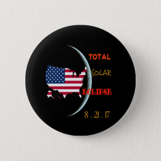 Total Solar Eclipse Party Buttons  Aug 21st. USA