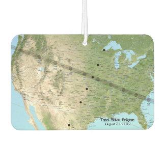 Total Solar Eclipse Path Map 2017 Car Air Freshener