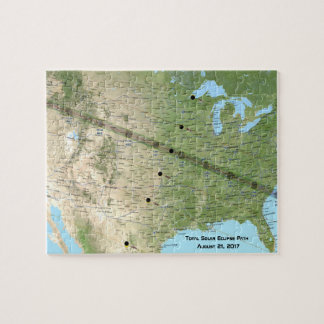 Total Solar Eclipse Path Map 2017 Jigsaw Puzzle