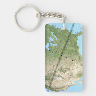 Total Solar Eclipse Path Map 2017 Keychain