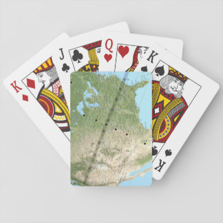 Total Solar Eclipse Path Map 2017 Playing Cards