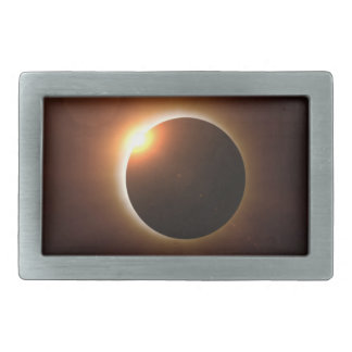 Total Solar Eclipse Rectangular Belt Buckle