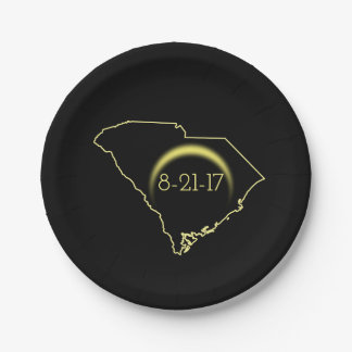 Total Solar Eclipse South Carolina 2017 Paper Plate