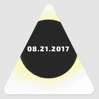 Total Solar Eclipse Triangle Sticker