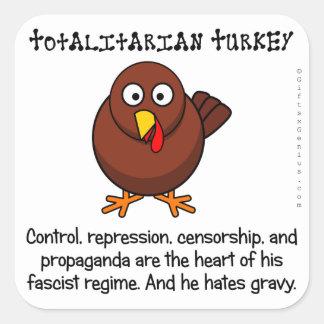 Totalitarian regimes restrict your diet square sticker