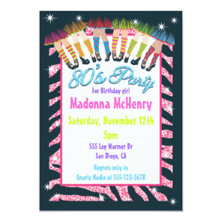 Totally 1980's Party Invitations