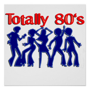 Totally 80s disco poster
