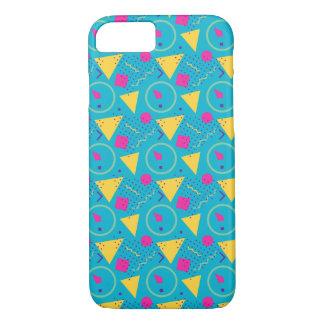 Totally 80's Sky Blue Retro Triangles Geometric iPhone 8/7 Case