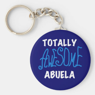 Totally Awesome Abuela Blue Tshirts and Gifts Keychain