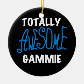 Totally Awesome Gammie Blue T-shirts and Gifts Ceramic Ornament