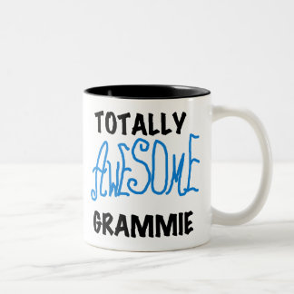 Totally Awesome Grammie Blue T-shirts Gifts Two-Tone Coffee Mug
