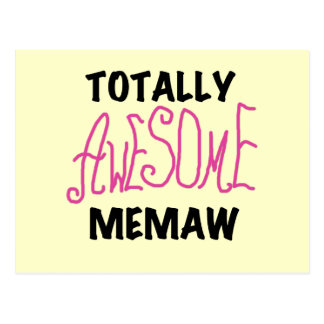 Totally Awesome Memaw Pink Tshirts and Gifts Postcard
