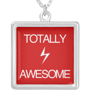Totally Awesome! Silver Plated Necklace