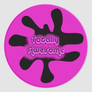 Totally Awesome Round Stickers