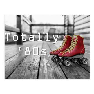 Totally Eighties Roller Skates Postcard