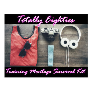 Totally Eighties Survival Kit Movie Postcard