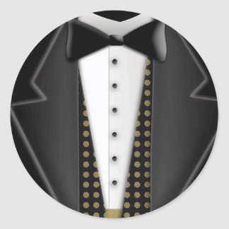 Totally formal tuxedo round sticker