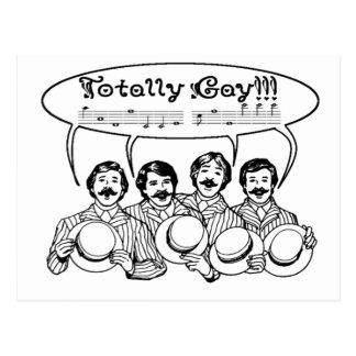 Totally Gay Barbershop Quartet Postcard