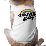 TOTALLY GAY RAINBOW - WHITE -.png Pet Tshirt