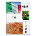 """TOTALLY ITALIAN BIRTHDAY GREETINGS"" GREETING CARD"