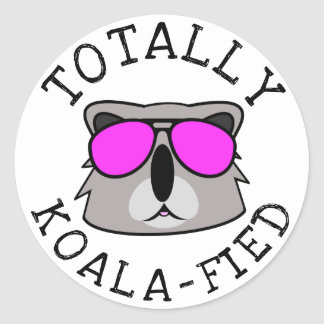 Totally Koalafied Classic Round Sticker