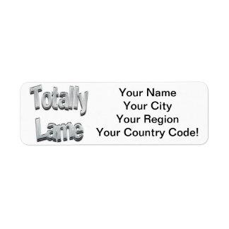 Totally Lame Chrome Return Address Label