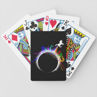 Totally magical eclipse bicycle playing cards