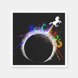 Totally magical eclipse paper napkins
