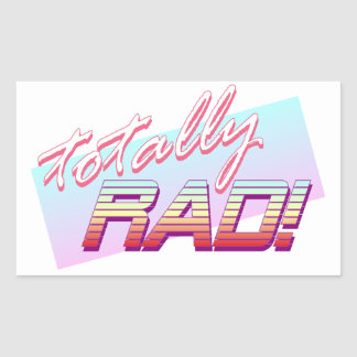 Totally RAD! Sticker