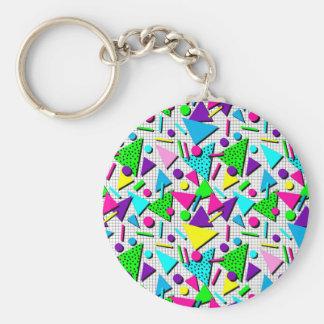 totally radical basic round button keychain