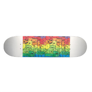 Totally radical dog design skateboard