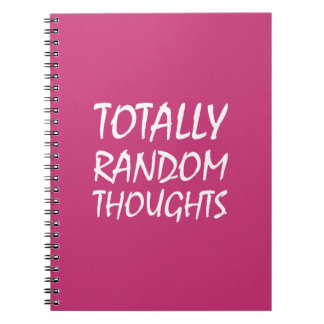 Totally Random Thoughts Notebook (Pink)