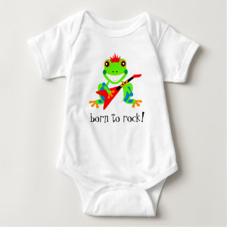 Totally Rockin' Tree Frog with Red Guitar Baby Bodysuit