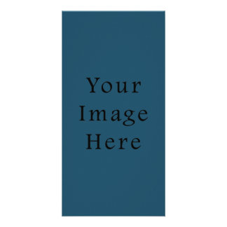Totally Teal Blue Colour Trend Blank Template Photo Greeting Card