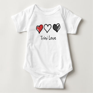 Totally Trini Love Baby Body Suit Baby Bodysuit