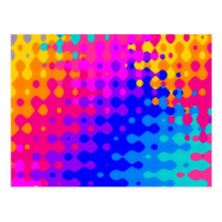Totally Trippy Hippy Pattern Postcard