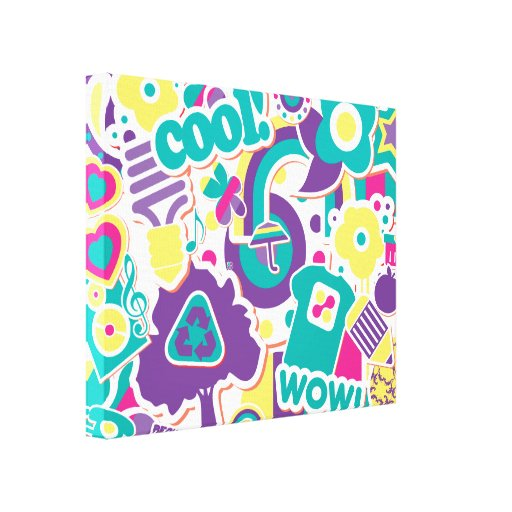 totally tween faux fun decals gallery wrapped canvas