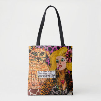 Tote bag- all I want to do is drink wine,