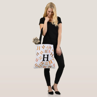 Tote Bag (ao) - Tumbled Letters in Browns