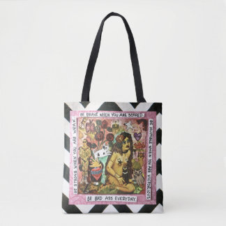 TOTE BAG- BE BRAVE WHEN YOU ARE SCARED