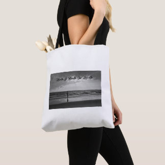 Tote Bag Breathe In Breath Out Move On Print