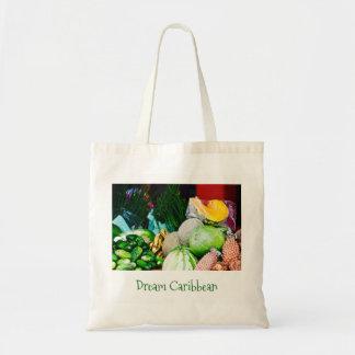 Tote Bag - Canvas Art - Caribbean Fruit