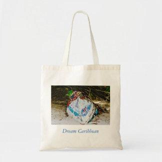 Tote Bag - Canvas Art - Caribbean - Pirogue - Fish