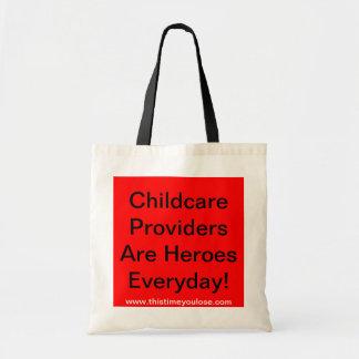Tote Bag. Childcare ProvidersAre HeroesEveryday!