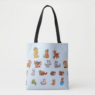 Tote Bag Cute Baby Animals
