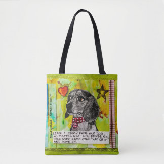 Tote bag. Dog on one side and cat on the other.