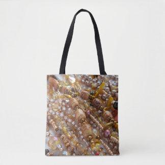 Tote Bag- Earth Tones Bead Print